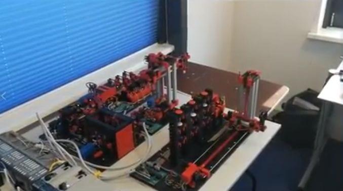 Minifactory FischerTechnic aangestuurd door een Allen Bradley PLC