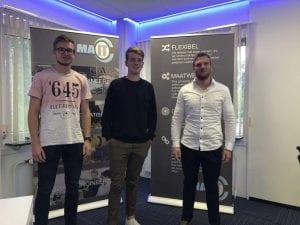Drie studenten beginnen met afstuderen bij MA-IT MyAutomation