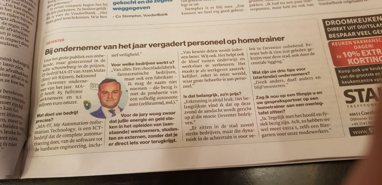 Krantenartikel in De Stentor