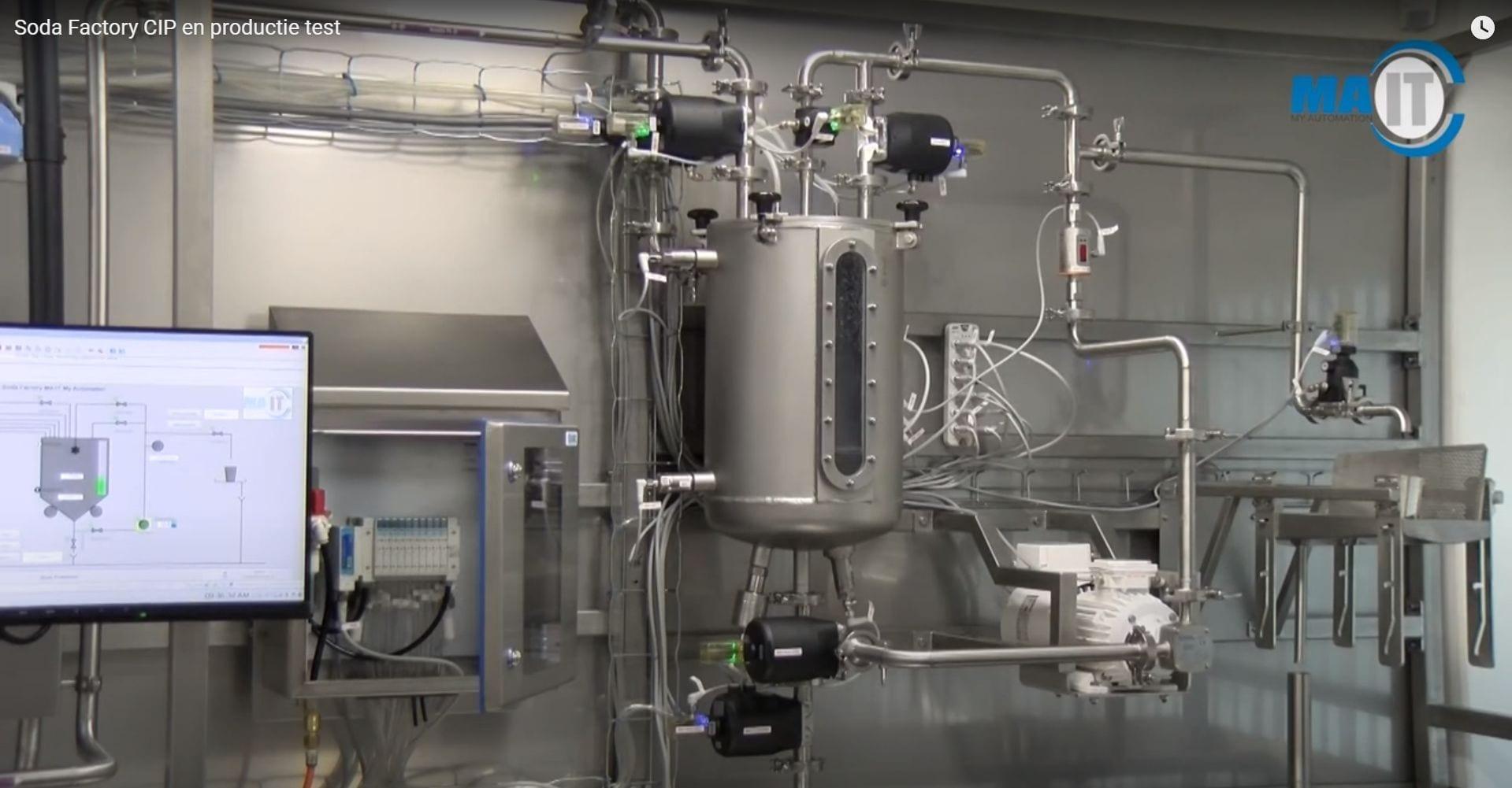 cip en productietest op limonadefabriek